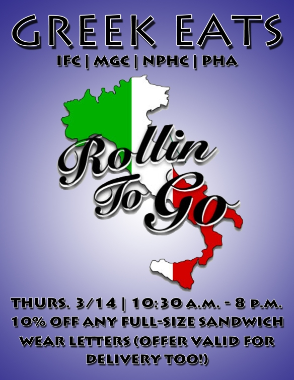 Northwestern Panhellenic Greek Eats WQ2013