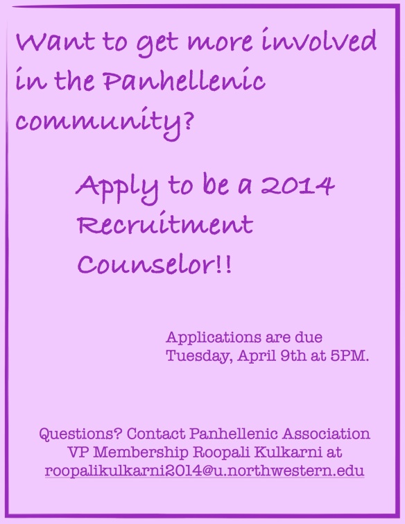 Apply to be a 2014 Recruitment Counselor!